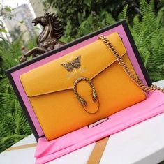fedc0fa10c5 Gucci Garden Butterfly Dionysus Mini Chain Bag 516920 Yellow 2018