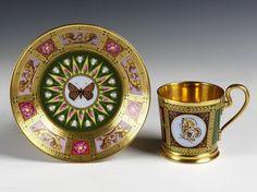 Gorgeous butterfly festooned porcelain by Sevres c1815.  ~Splendor