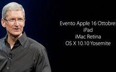 Nuovo evento Apple il prossimo 16 ottobre #apple #eventi #ipad #imac
