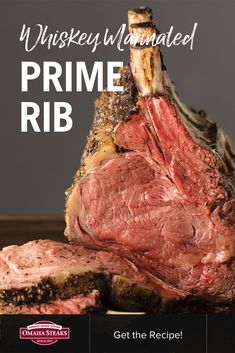 How to cook a bone-in Frenched prime rib roast in the oven with a simple whiskey marinade. A perfect beef roast for your holiday dinner or special occasion. Be the host with the roast and try this easy recipe. Roast Beef Marinade, Beef Rib Roast, Roast Beef Recipes, Beef Ribs, Oven Roast, Smoker Recipes, Prime Rib Roast Recipe Bone In, Bone In Rib Roast, Prime Rib Recipe