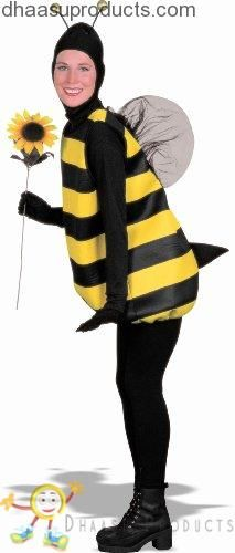 Halloween costume Women's Bumble Bee Costume, Black/Yellow, Standard (Fits up to Size 42 Chest)