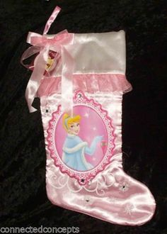 "Disney Collectable Mini Christmas Stocking  TINK  7/"" x 4/"" Purple"