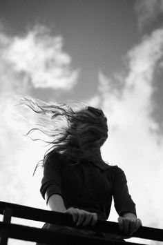 """""""The wind envelops you with a certain purpose in mind, and it rocks you. The wind knows everything that's inside you. Blowin' In The Wind, Wind In My Hair, Peculiar Children, Pics For Dp, Edward Weston, Best Portraits, Windy Day, Black And White Portraits, White Photography"""