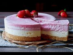 Torta Fredda Fragole e Mascarpone - YouTube