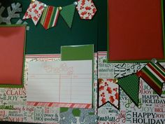 Scrapbook layout. The check list