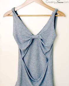 This open-back tank top just requires scissors and fabric glue. | 41 Awesomely Easy No-Sew DIY Clothing Hacks