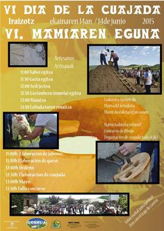 Este domingo 14 de junio el Valle de Ultzama celebra el VI Día de la Cuajada - IV. Mamiaren eguna.