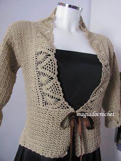 Magia do Crochet: Casaco em crochet para senhora