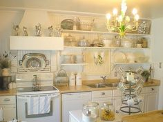 Shabby Chic Kitchen Decor on Heart This Shabby Chic Kitchen Makeover From Shabby French Cottage