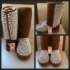 Love any studded, pearls, or rhinestone boots