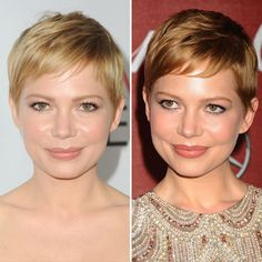great pixie cut on michelle williams. adorable.