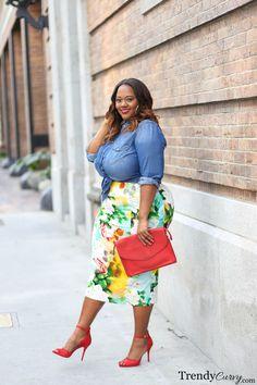 Stylish Plus-Size Fashion Ideas – Designer Fashion Tips Plus Size Summer Fashion, Plus Size Summer Outfit, Plus Size Fashion For Women, Plus Size Womens Clothing, Size Clothing, Plus Size Outfits, Clothes For Women, Clothing Stores, Curvy Girl Fashion