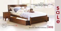 Warren Evans - beds Danish Bedroom, Warren Evans, Best Mattress, Double Beds, Bed Frame, Sleep, House Design, Storage, Mattresses