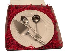 Amazon.com | Perfect Hostess Set for Your Buffet--Serve Guests in White and Silver Style: Serving Sets