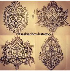 Henna Mendhi tattoo designs by Saskia Chowles