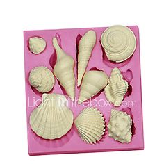 3D Marine Animal Shell Silicone Fondant Cake Molds Chocolate Mould SM-091 - USD $4.82 ! HOT Product! A hot product at an incredible low price is now on sale! Come check it out along with other items like this. Get great discounts, earn Rewards and much more each time you shop with us!