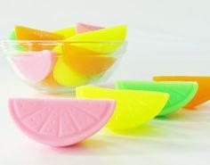 30 BULK CITRUS SLICE Soaps  Choose Scent & Color by crimsonhill,