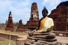 Ayutthaya, Thailand - come follow my bike tour of this World Heritage site: http://www.ytravelblog.com/ayutthaya-thailand-a-bike-and-boat-tour-of-the-royal-kingdom/