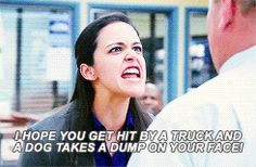 "And you can be sure that she'll fight to defend you if it comes down to it. | 17 Reasons Amy Santiago From ""Brooklyn Nine-Nine"" Would Be The Perfect BFF"