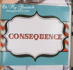 Oh My Gluestick: The Consequence Jar