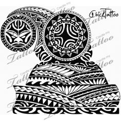 Polynesian armor half sleeve | New Design #114030 | CreateMyTattoo.com