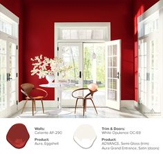 Strong, radiant and full of energy the Benjamin Moore Color of the Year 2018 is Caliente AF-290.