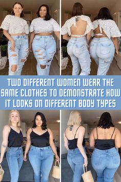 Denise Mercedes and Maria Castellanos from New York are best friends but also famous fashion influencers. Size 14 Models, Stylist Tattoos, Casual Outfits, Fashion Outfits, Designer Sandals, Body Types, That Look, Cover Up, Women Wear