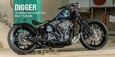 Brass Balls Cycles Digger. Uncompromising American Motorcycles. Configure yours today.