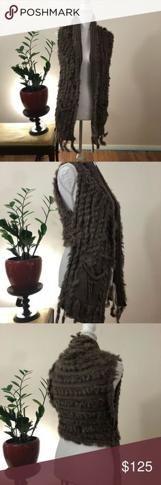 Mischa Barton The Aspen Waistcoat NWOT! Light brown/ taupe color, one size fits all. Questions and offers welcome! Mischa Barton Jackets & Coats Vests