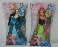 New Disney FROZEN Elsa and Anna Barbie Size COLOR MAGIC Dolls Set FREE SHIPPING  PERFECT EASTER GIFT!