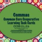Common Core Task Cards  2.L.2.b (Commas) by Trina R. Dralus