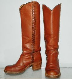 Vintage 70s leather Frye boots