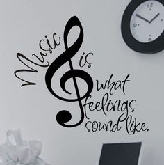 Vinyl Wall Lettering Quotes Decals Stickers Treble or Bass Clef Music is... Vinyl Wall Decals, Wall Stickers, Sticker Vinyl, Foto Blog, Poster Design, Music Wall, Letter Wall, Teacher Appreciation Gifts, Vinyl Lettering