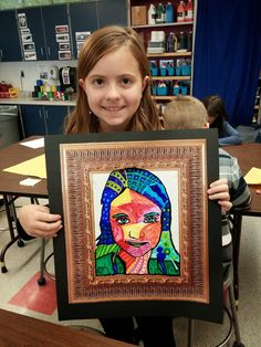 Fourth graders made these neat Heather Galler self-portraits . We learned about Etsy , a website were artists can sell their artwork ...