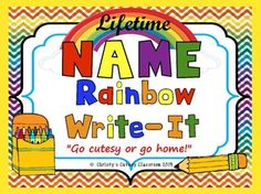 A literacy center MUST!!! A child's name is of the most important first words they will learn. When you purchase this package, you will be getting a customized rainbow name writing page for each student in your class for each year that you teach! No more making name centers for your students each year.