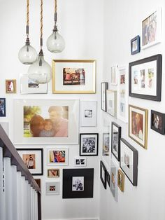Try a gallery of photos in varying sizes #hgtvmagazine http://www.hgtv.com/decorating-basics/when-emily-henderson-designs-your-home/pictures/page-3.html?soc=pinterest