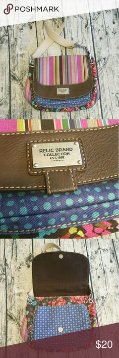 EUC Relic purse Excellent used condition! I bought for my daughter, she used it twice. So adorable and colors are vibrant and playful! Nice thick strap. Clean compartments and bottom. Smoke free home! Relic Bags