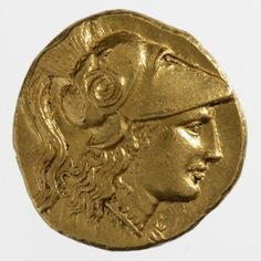 RISD Museum: Greek, Alexander the Great, Stater coin, ca. 323 BCE, gold; 8.6 g (weight), Museum Appropriation Fund 40.015.324