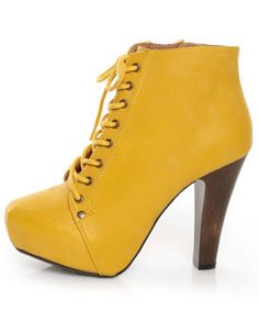 Yellow ankle boot.