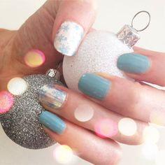Christmas snowflake nail mash-ups