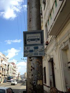 bus stop La Habana Vieja