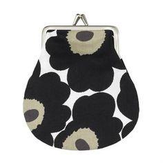 Mini Unikko purse small - white-black-olive - Marimekko