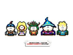 South Park - Stick of Truth Perler Sprites