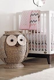 """I am planning my baby's nursery right now and am in love with this owl hamper. I love it because it is so neutral, it can fit with any style I choose for the nursery. Owl Baby Rooms, Baby Owls, Owl Baby Stuff, Babies Stuff, Wicker Hamper, Hamper Basket, Baskets, Laundry Hamper, Kids Hamper"