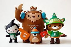 Super Punch: Vancouver Winter Olympics Mascots Vinyl Toy Set