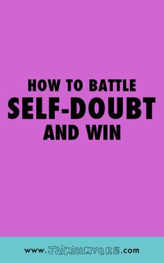 How to Battle Self-Doubt (and Win!) | Are you feeling crippled by overwhelming feelings of self-doubt? Many creative entrepreneurs experience the feeling of not being good enough or comparing themselves to others. Click through to read 5 simple tips to get you through! Or, repin for later!