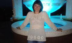 """Пуловер """"Цветочный""""/Pullover Crochet. ФОТОСЕССИЯ"""