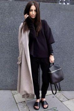 Street Style Rucksack Leather