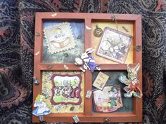 Made by Kathryn Lamb - I made this Alice in Wonderland shadow box frame using the paper book from My Craft Studio, I decoupaged some elements, then embellished with charms. I really enjoyed this project and was sad to say bye bye when I sold it as a one of a kind artwork.