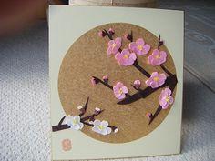 梅の花 brossam Origami Cards, Origami Paper, Diy Paper, Paper Crafts, Quilling Dolls, 3d Quilling, Chinese New Year Decorations, New Years Decorations, Origami Flowers